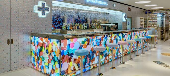 """空间设计 """"pharmacy 2""""艺术主题餐厅"""