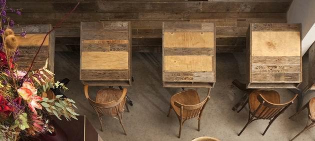 空间设计|用板条箱装修的咖啡厅