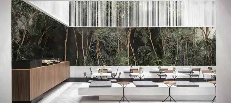 空间设计|艺术博物馆里的商店咖啡厅