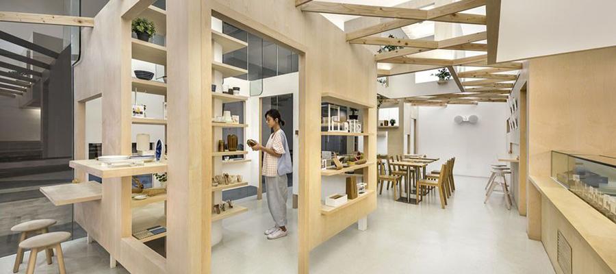 空间设计 共享一个店面的两个商店
